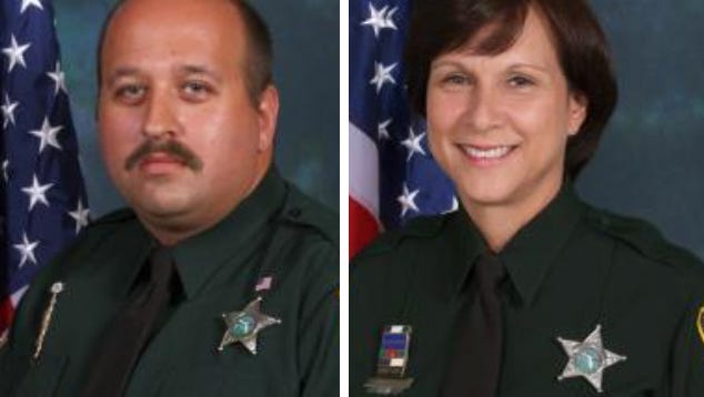 Michael Hriciso, left, and Marie Skinner of the Brevard County Sheriff's Office.