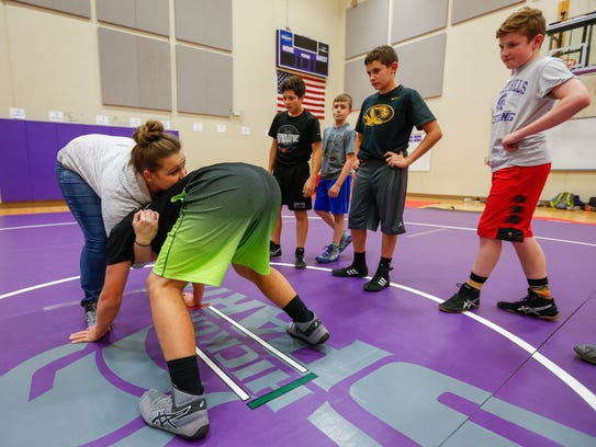 Hickory Hills Middle School wrestling coach Dawn Bayless