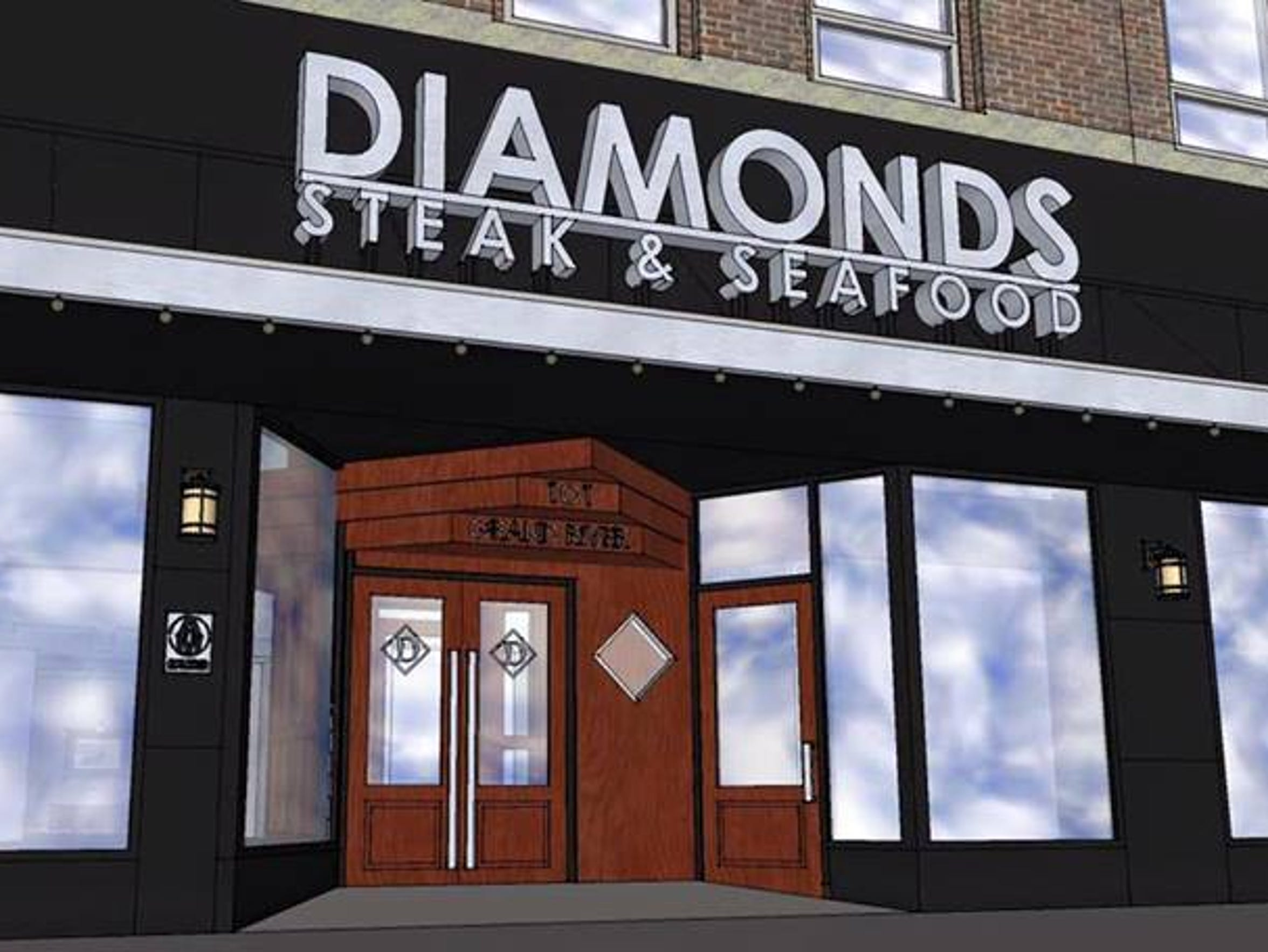 The new Diamonds Steak & Seafood is expected to open