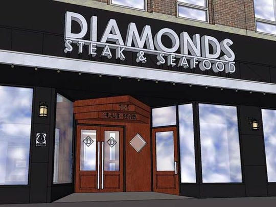 The new Diamonds Steak & Seafood is expected to open in August.