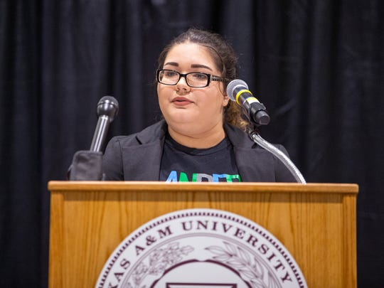 Aspen Stinson, a Texas A&M-Corpus Christi student, speaks about her experiences as a foster child who was adopted. She is now a college student working three jobs to support herself. As a foster child who aged out of the system, she is eligible for free college tuition. A new program, announced Thursday, June 21, 2018, will also provide housing and food for those students in addition to academic advisors that are specific to their foster needs throughout their college career. The Supervised Independent Living program is being launched at A&M-Corpus Christi and A&M-Kingsville.