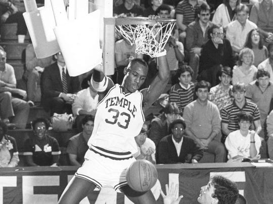 Freehold's Tim Perry scores for Temple in 1988.