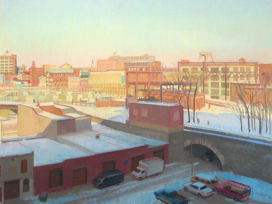 "Drawing Discourse juror Scott Noel, whose work includes this pastel, ""Train Tracks in the Snow,"" offers a lecture at 5 p.m. Jan. 20 as part of the exhibition opening at UNC Asheville."