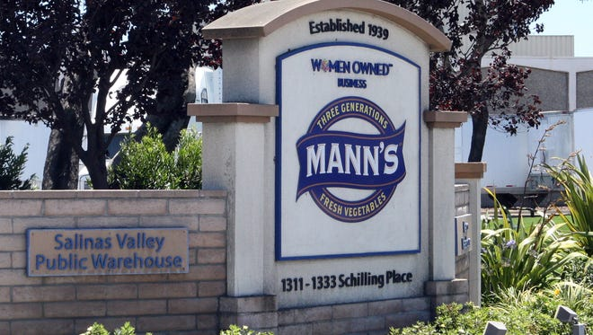 Mann Packing signage at Schilling Place and Hansen Road, Salinas