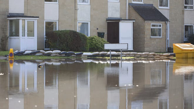 You may find water in your basement after a big rainfall in spring.