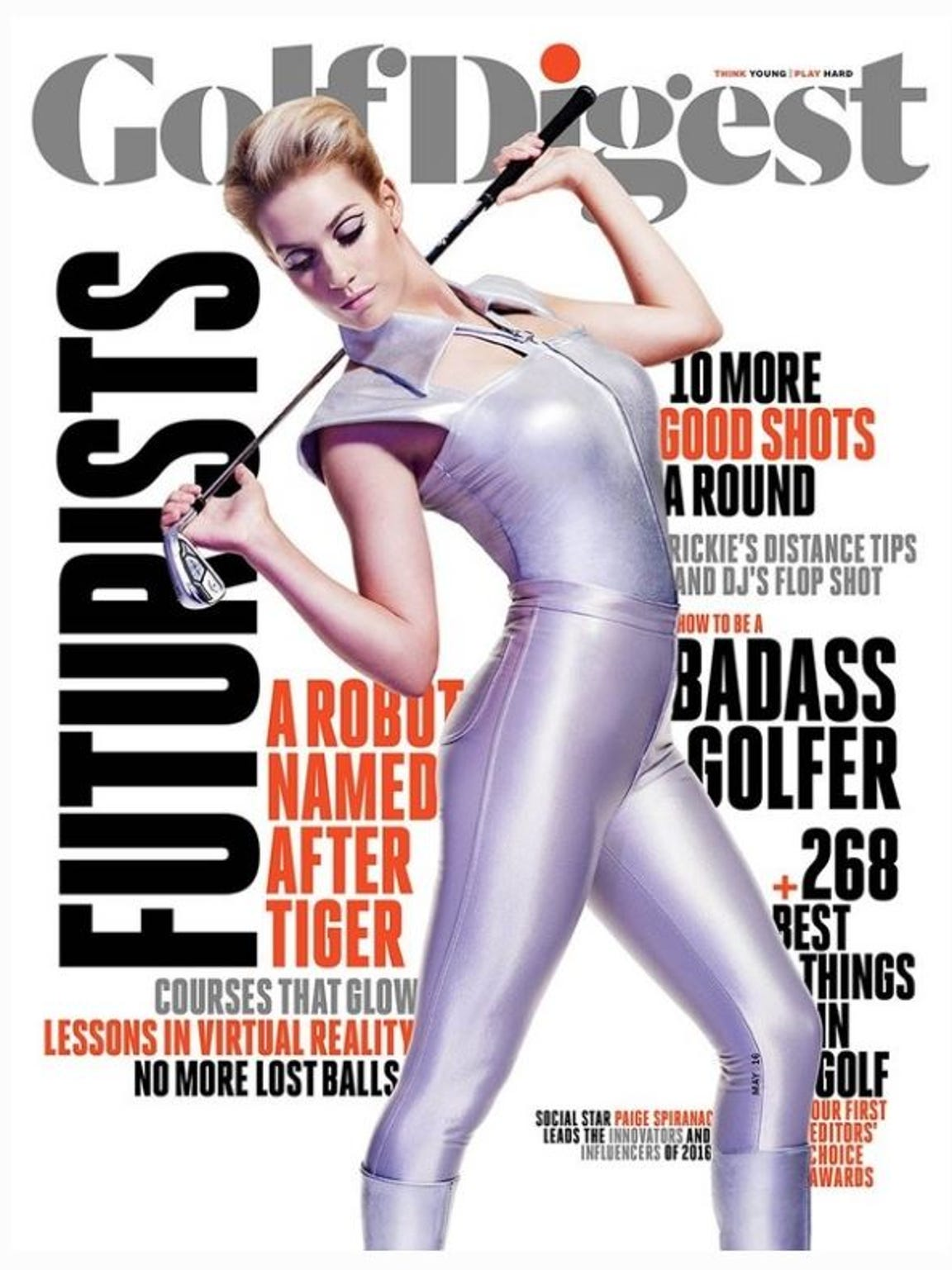 Golf Digest put Spiranac on the cover of its May 2016