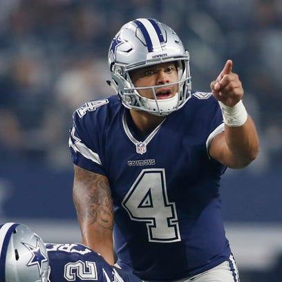 Cowboys rookie QB Dak Prescott (4) has shown no discomfort