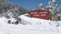 Mount Mitchell State Park saw 66 inches fall over the course of the snowstorm.