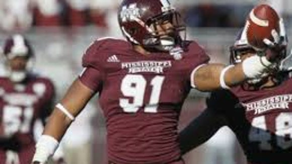 Mississippi State senior Preston Smith earned SEC Defensive Lineman of the week after his performance against Southern Miss.