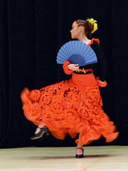 A flamenco dancer. The Borinquen Dance Theatre will