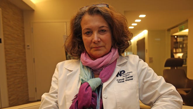 Victoria Assumma is an oncology social worker at White Plains Hospital's Dickstein Cancer Center. She works with patients to answer questions, provide advice, guidance, help with insurance and just to be a shoulder to lean on.