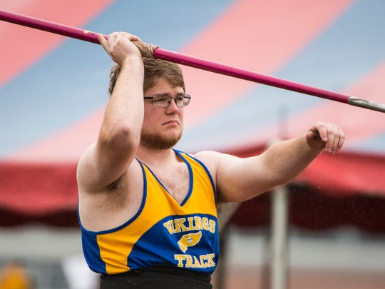 Northern Lebanon's Dakota Leonhard is set to compete in both the Class AAA shot put and javelin at this weekend's PIAA State Championships.