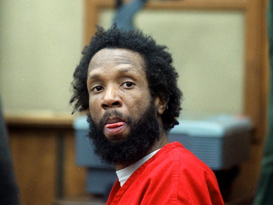 Daryl Mack is shown in a courtroom in Reno, Nev., April