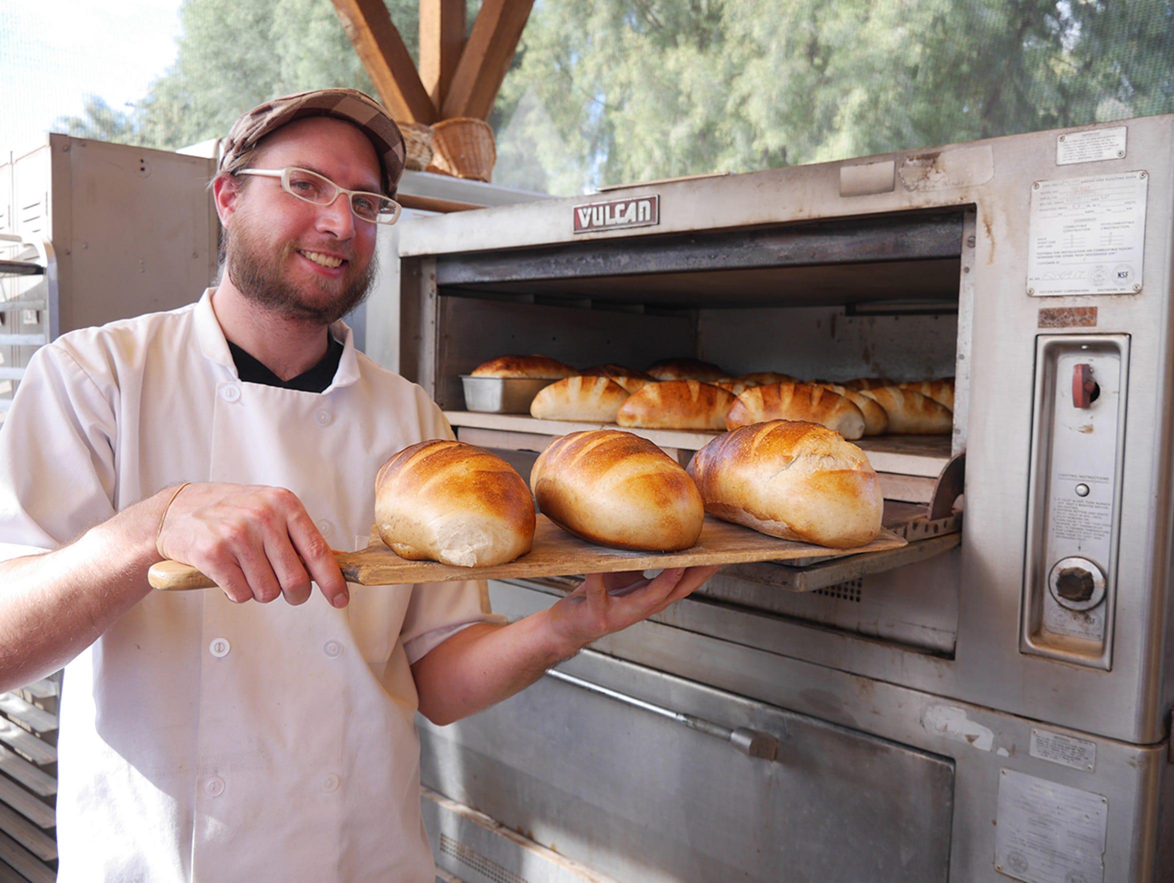 Sourdough bread baked daily.