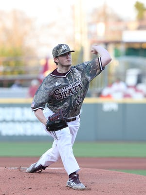 Mississippi State freshman pitcher Konnor Pilkington could shuffle into the weekend rotation.
