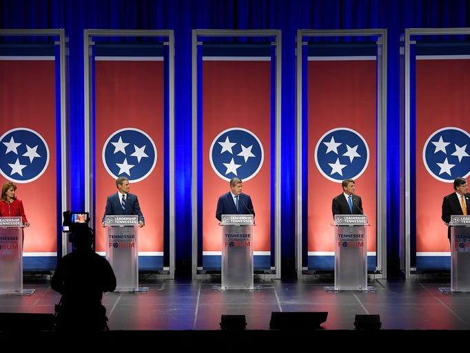 Gubernatorial candidates Beth Harwell, Bill Lee, Karl