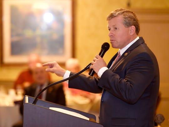 U.S. Congressman Charlie Dent, seen here speaking to