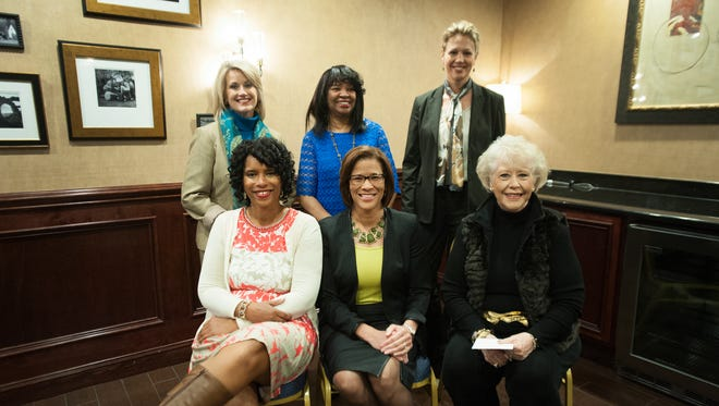 Jane Robelot, Charlotte Walker, Dr. Kinneil Coltman, Rhonda Rawlings, Dr. Andrea Washington, and Dr. Nancy Welch are the 2016 women making history honorees presented by the Greenville Cultural Exchange Center.