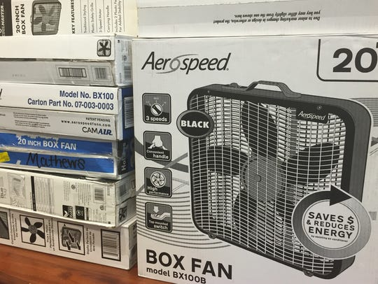 Richwood Middle School students donated fans to the