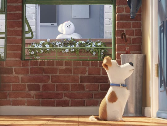"""A scene from """"The Secret Life of Pets."""" The movie opens"""