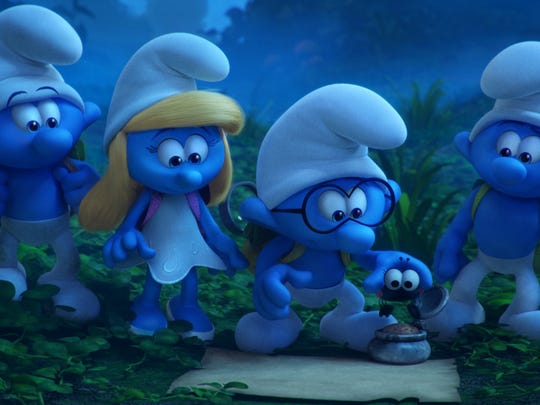 Clumsy, Smurfette, Brainy and Hefty are among the blue