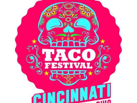 Taco Festival Cincinnati logo.