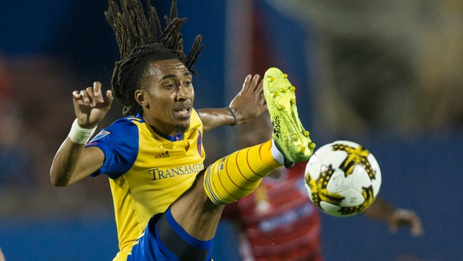 Colorado Rapids midfielder Marlon Hairston (94) in game action in the second half against the FC Dallas at Toyota Stadium. Mandatory Credit: Tim Heitman-USA TODAY Sports