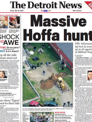 The front page of The Detroit News on May 15, 2006.
