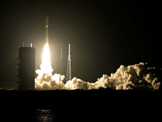 A United Launch Alliance Atlas V rocket lifts off from Complex 41 at the Cape Canaveral Air Force Station, Wednesday, Sept. 2, 2015, in Cape Canaveral, Fla.