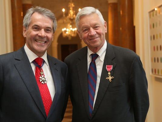 Ambassador Wesmacott and Congressman Petri