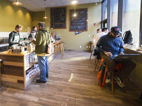 Young urban professionals in in Indianapolis pay less for their desired amenities, such as gourmet coffee, than yuppies in other cities. Bee Coffee Roasters, 201 S. Capitol Ave., is an independent Indianapolis coffee shop.