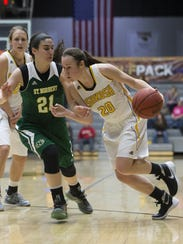 Ashley Neustifter and the UW-Oshkosh women's basketball