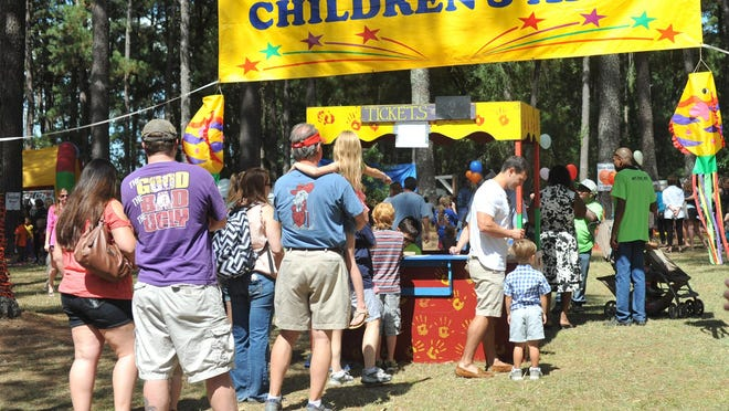 The WellsFest designated Children's Area is filled with fun and games for the young and young at heart.