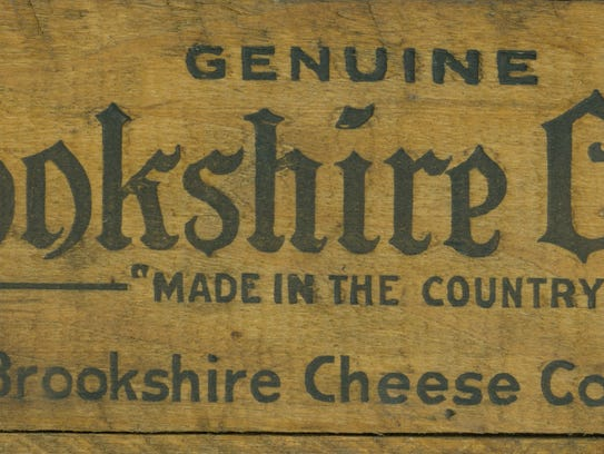 A Brookshire Cheese wooden storage box