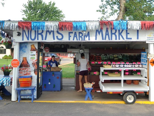 Norm's Farm Market sells vegetable and fruits at a stand near Becker. Sweet corn is one of the options hitting stands now.