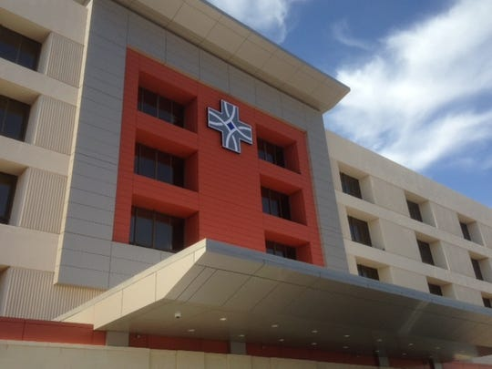 The redone exterior on the Sierra hospital includes The Hospitals of Providence's logo.