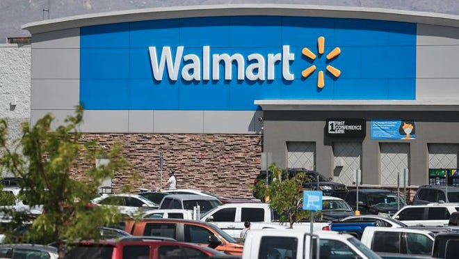 A Walmart store in Las Cruces, N.M., is shown in this July 11, 2020, photo. Walmart announced Wednesday it will require customers to wear face coverings at all of its namesake and Sam's Club stores, making it the largest retailer to introduce such a policy that has otherwise proven difficult to enforce without state and federal requirements. Nathan J Fish/Sun-News via Imagn Content Services, LLC