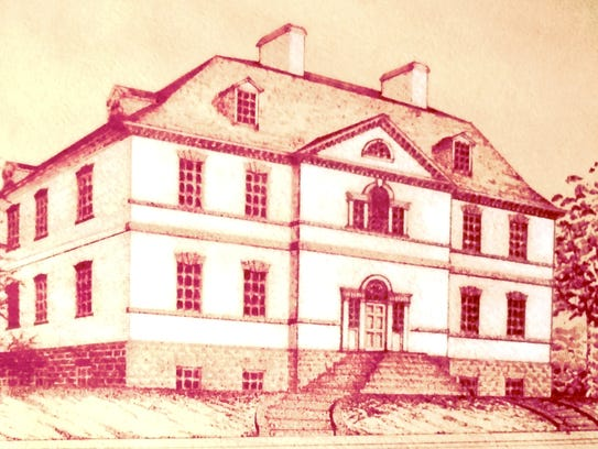 A sketch of the Proprietary House from the 1770s