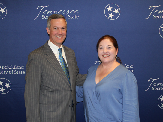 Tennessee Secretary of State Tre Hargett with JMCSS