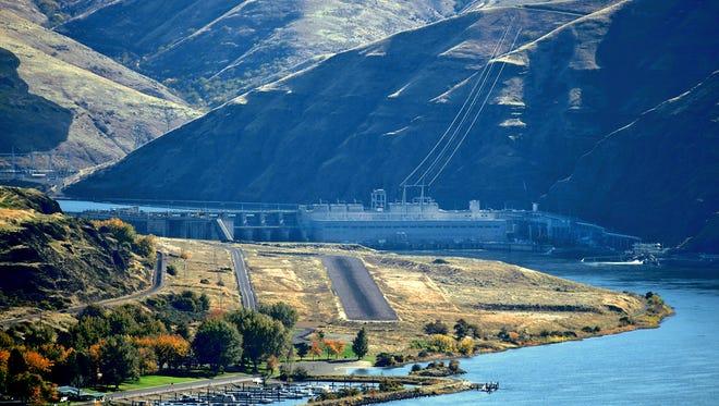 Lower Granite Dam on the Snake River in Washington state.