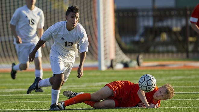Sebastian Roman (19) is a returning first-team all-county player for Dover.