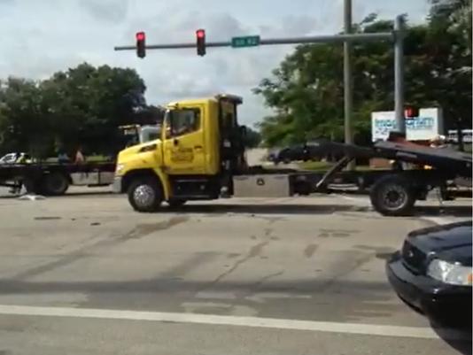Scene of rollover crash on MLK in Fort Myers