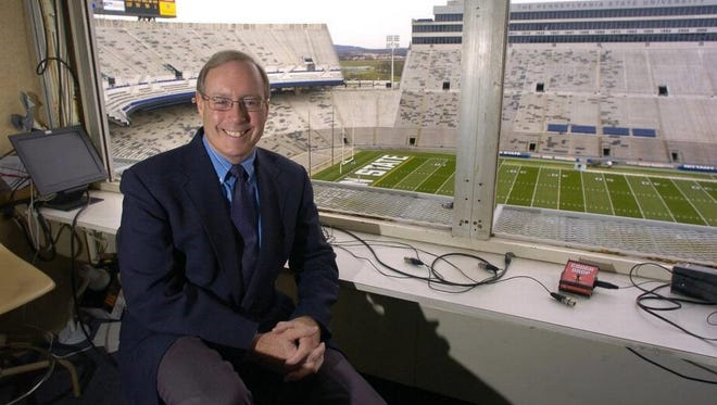 """Steve Jones is known as the """"Voice of Penn State Sports."""" He appeared in York on Tuesday, Aug. 7."""