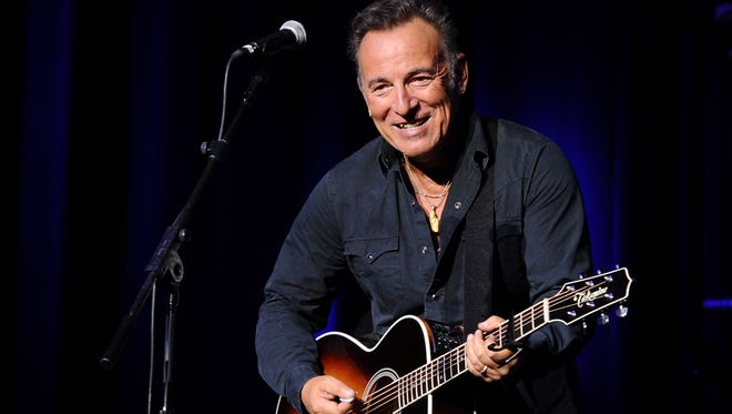 Bruce Springsteen performs on stage at the New York Comedy Festival and the Bob Woodruff Foundation's 9th Annual Stand Up For Heroes Event on November 10, 2015 in New York City.