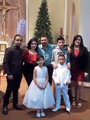 Eduardo Castro and his family