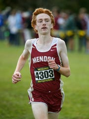 Pittsford Mendon's Nathan Lawler finished third with