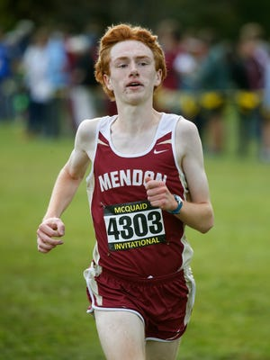 Pittsford's Nathan Lawler finished first with a time of 16:45 in a Monroe County race run at Mendon Ponds Park West Course, Monday.
