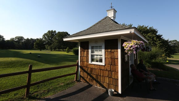 The starter's shack at Saxon Woods Golf Course in Scarsdale