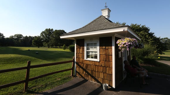 The starter's shack at Saxon Woods Golf Course in Scarsdale July 19, 2017.