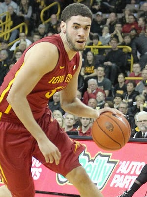 Iowa State Cyclones forward Georges Niang (31) drives to the basket against the Iowa Hawkeyes at Carver-Hawkeye Arena. Iowa State beat Iowa 90-75.